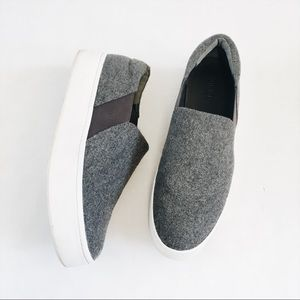 Vince grey platform slip ons sneakers size 9.5